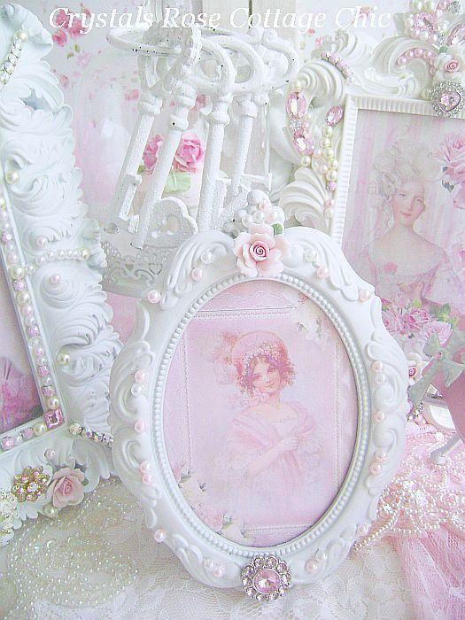 Bejeweled Oval Victorian Frame