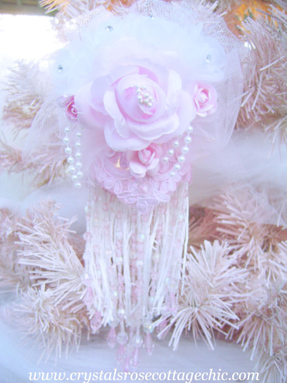 Shabby Chic Pink Victorian Ornament