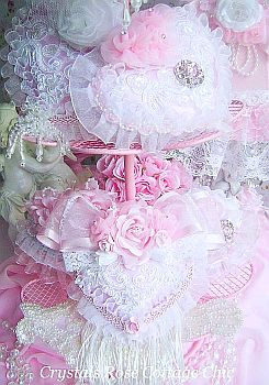 romantic  Valentines day pink hearts victorian