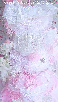 shabby chic pink valentines day heart decor Victorian romantic