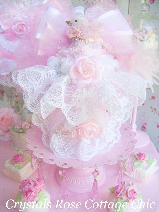 Shabby Chic Pink Spring Arrangement