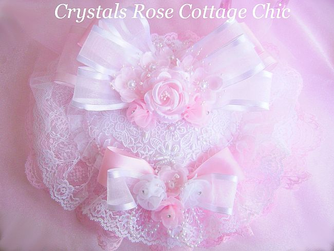 Romantique Rose Pink Satin Heart Sachet