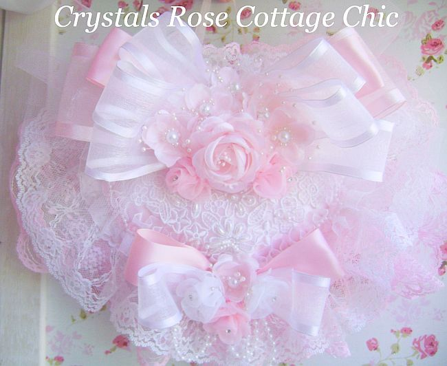 Romantique Rose Pink Satin Heart Sachet