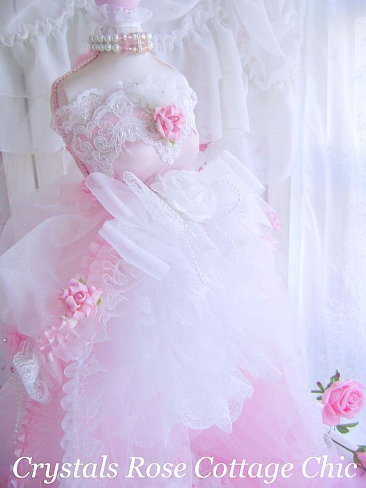 Shabby Pink Romantique Dress Form  Reserved
