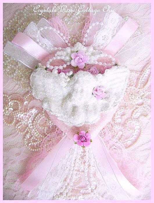 Romantic Crystal Glitter Frost Cherub Heart 2