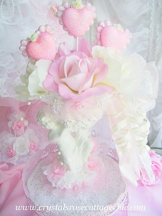 Beautiful Valentines Day Vintage Cherub Arrangement