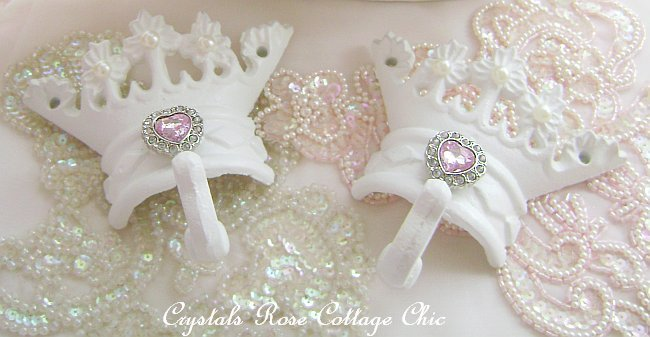 Rhinestone Crown Hooks, Color Choices