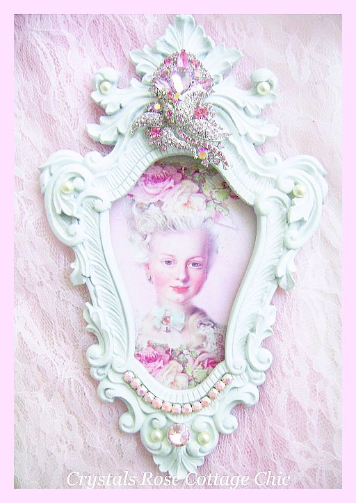 Frenchy Pink Princess Bejeweled Frame Marie Antoinette