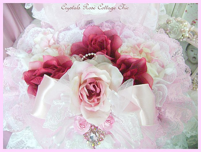 Shabby Pink & Wine Rose Decorative Box