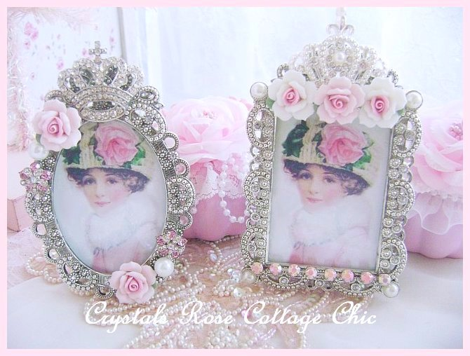 Shabby Rose Victorian Oval Frame