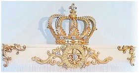 Custom Listing for 2 French Flourish Bed Crown Teesters