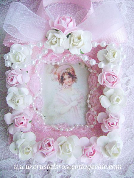 La Belle Victorian Girl in Pink Ornament