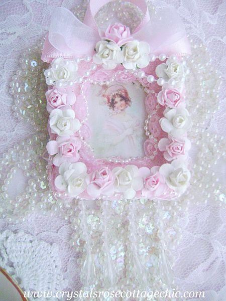 La Belle Victorian Girl in Pink Ornament
