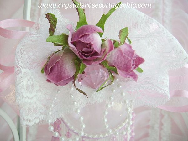Victorian Plum Rose Ornament