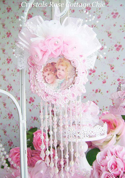 Vintage Victorian Cherub Ornament 2