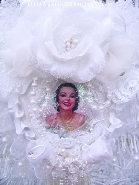Beautiful Vintage Bride Ornament