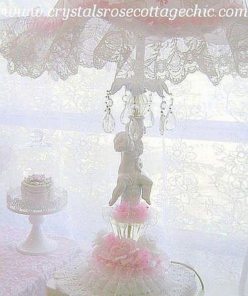 Vintage Romance Cherub Lamp
