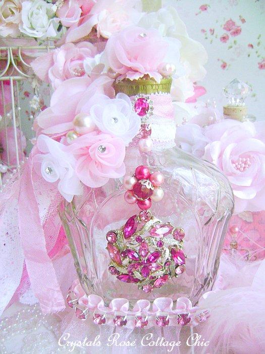Romantic Vintage Bejeweled Bottle