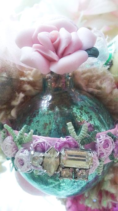 Vintage Cherub Bottle Brush Tree
