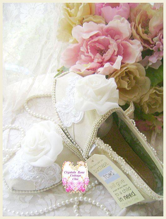 Shabby Chic Toms Ivory Chiffon Roses