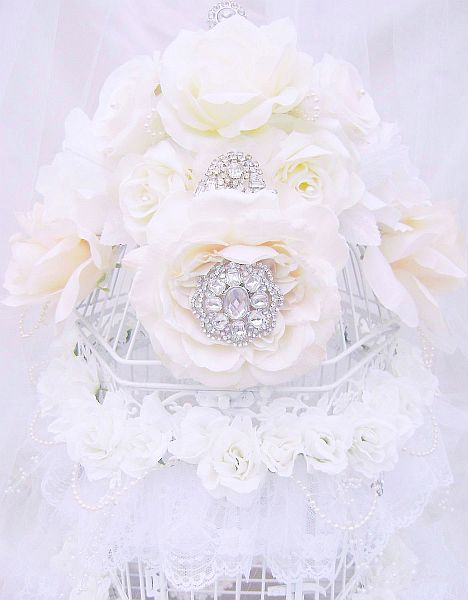 Beautiful Bejeweled Bridal Bird Cage